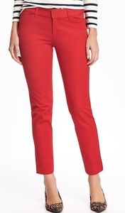 OLD NAVY•Mid-Rise Pixie Ankle Pants/Robbie Red/4